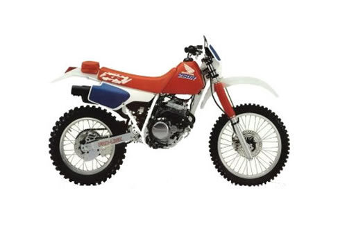 Product picture XR250R service manual repair 1986-1995 XR250