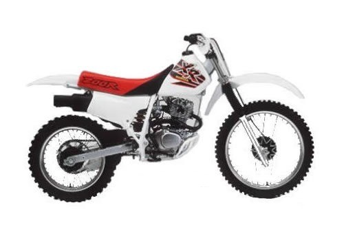 Product picture Honda XR200R / XR250R service manual repair 1984-1985 XR200 XR250