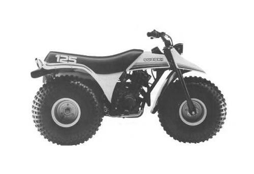 Product picture Suzuki ALT125 service manual repair 1983-1986 ALT 125