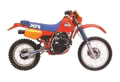 Product picture Honda XR350R service manual repair 1983-1985 XR350